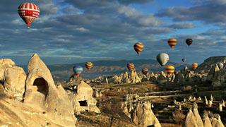 over the Cappadocia